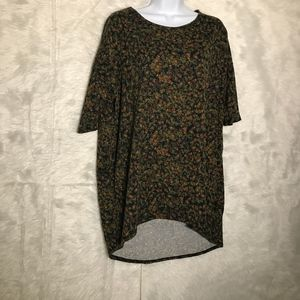 LulaRoe Size Woman's Large Perfect T Floral Green